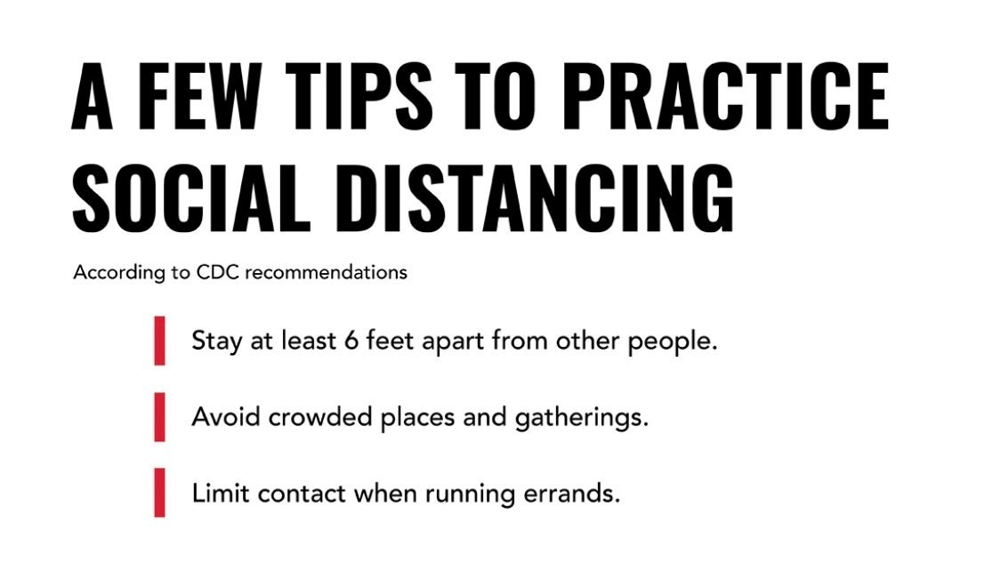 A few tips to practice social distancing