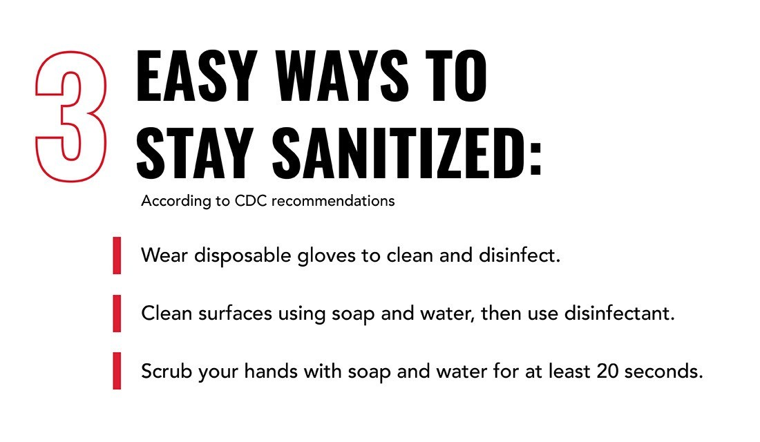 Easy ways to stay sanitized