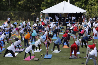 International day of yoga at hammond park photo cred city of sandy springs
