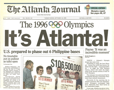 It s atlanta 1996 olympics newspaper